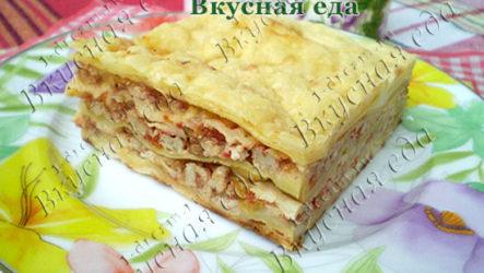 Лазанья с мясным фаршем-рецепт с фото