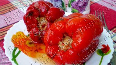 Болгарский перец фаршированный мясом и рисом-рецепт с фото