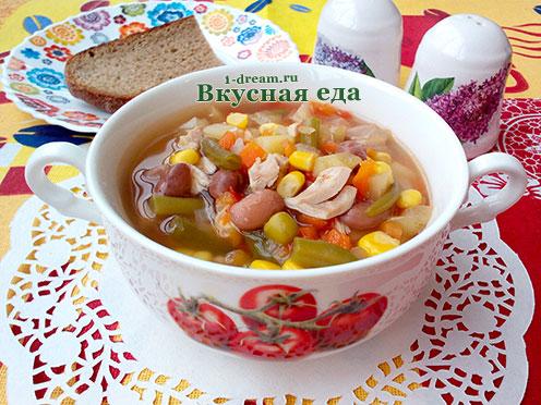 Вкусный быстрый суп накурином бульоне