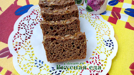 Бездрожжевой ржаной хлеб-рецепт с фото