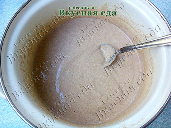 Опара для теста для домашнего ржаного хлеба