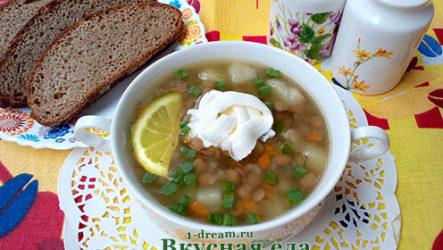 Суп из зеленой чечевицы -рецепт с фото