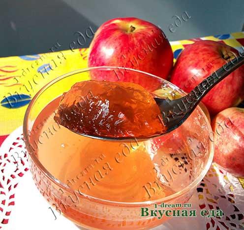 Желе из яблок на зиму