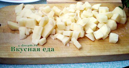 Картофель для куриного супа