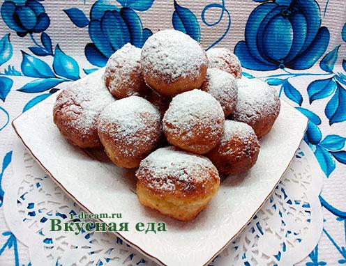 Рецепт творожных пончиков с фото