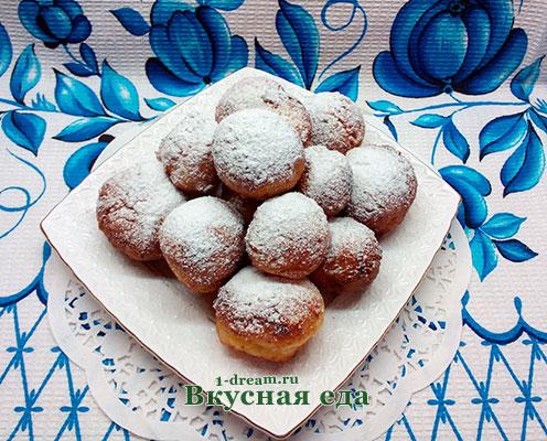 Рецепт творожных пончиков
