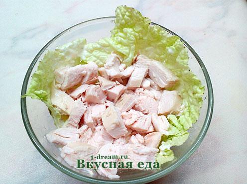 Куриное филе для салата с виноградом