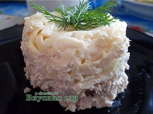 Салат из мяса говядины - новогодний