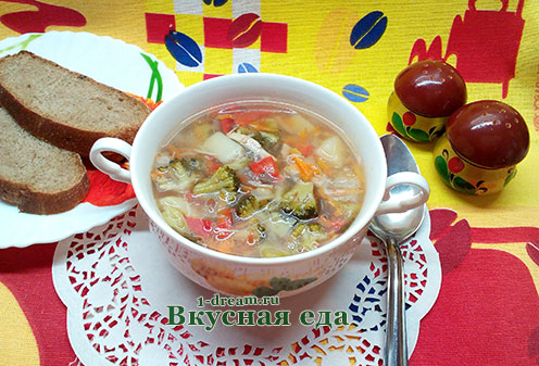 Рецепт супа из брокколи