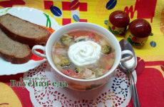 Суп с брокколи на курином бульоне