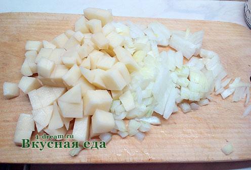 Картошка для супа с брокколи