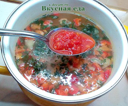 Помидорная заправка для супа с брокколи