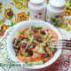 Салат из фасоли с корейской морковью и курицей