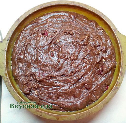 Тесто для шоколадного торта с вишней