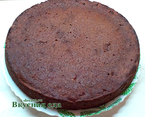 Корж для шоколадного пирога с вишней