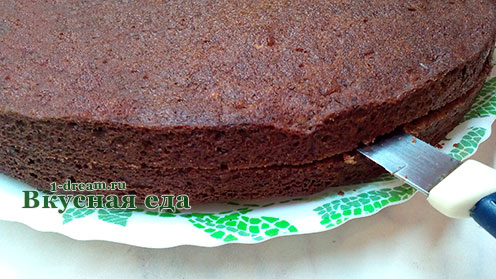 Коржи для шоколадного торта с вишней
