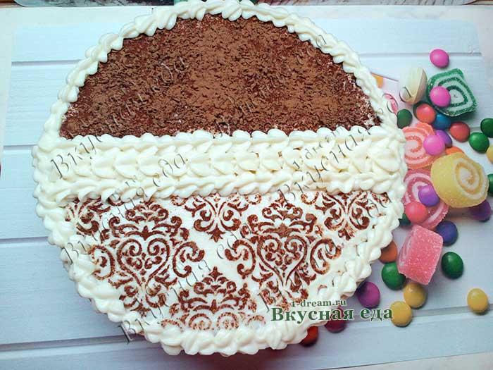 Шоколадный торт с вишней-рецепт с фото