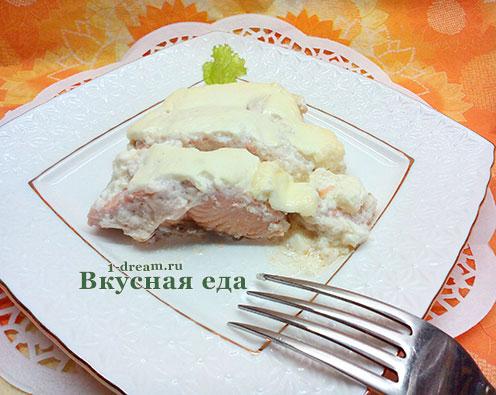 Горбуша в сметане рецепт в духовке
