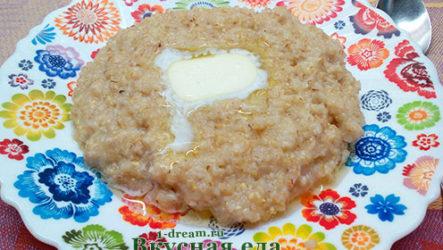 Пшеничная каша на воде-рецепт с фото