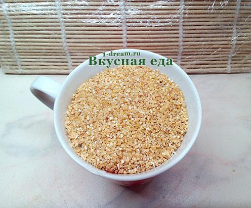 Крупа для пшеничной каши на воде