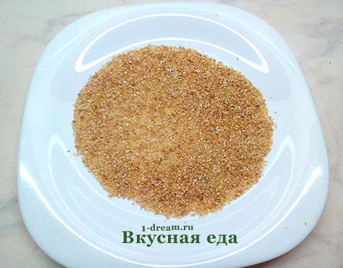 Чистая крупа для пшеничной каши на воде