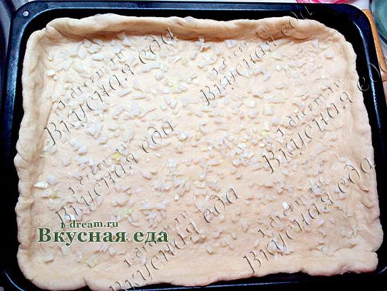 Тесто на противне для пирога
