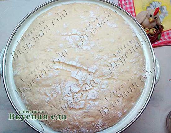 Дрожжевое тесто для пирога с семгой