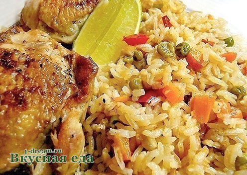 Готов рис с курицей