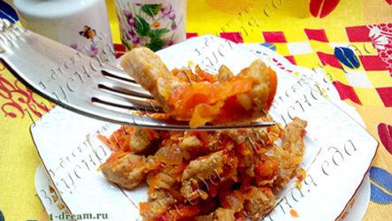 Свинина жареная с овощами - рецепт с фото