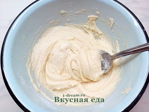 Выместить тесто для кунжутного печенья
