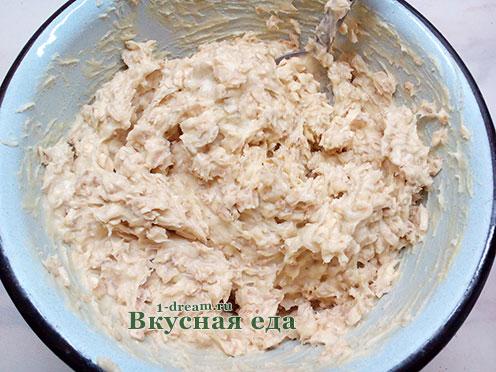 Тесто для овсяного печенья  готово