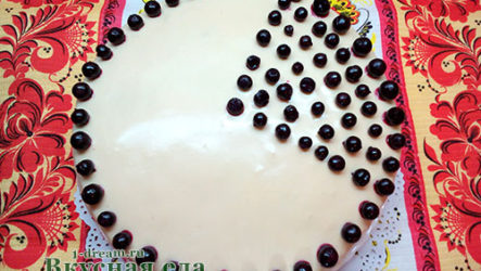 Бисквитный торт маковый