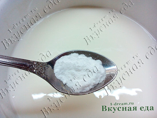 Сода для блинов на кислом молоке