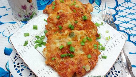 Шницели куриные с сыром