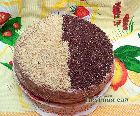 Шоколадный бисквитный торт пошаговый рецепт