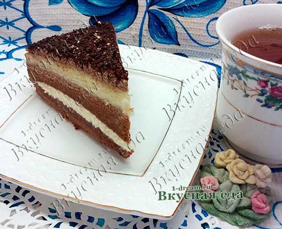 Рецепт шоколадного бисквитного торта пошагово