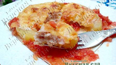 Кабачки с мясом в духовке-рецепт с фото