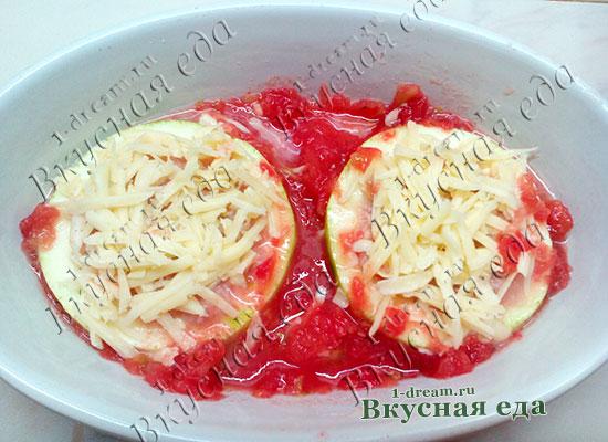 Тертый сыр на кабачки с мясом