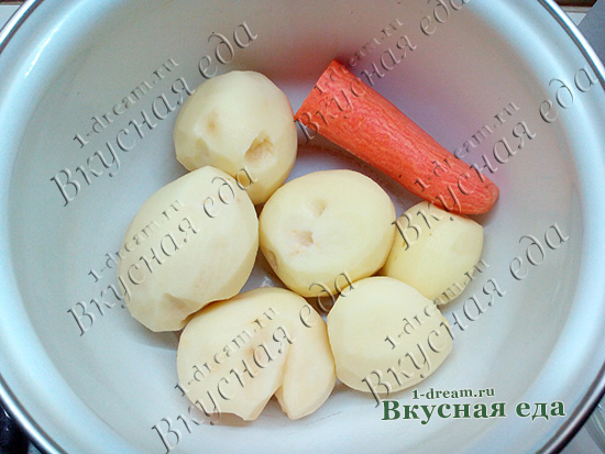Овощи для картофельной запеканки с курицией