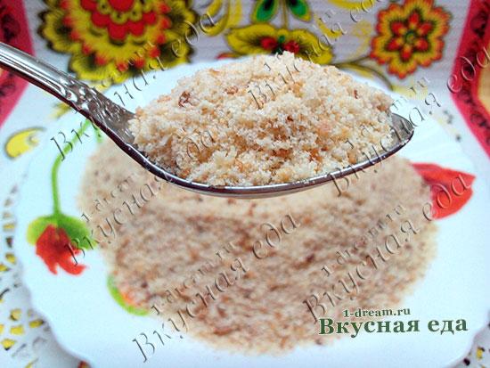 Рецепт панировочных сухарей с фото
