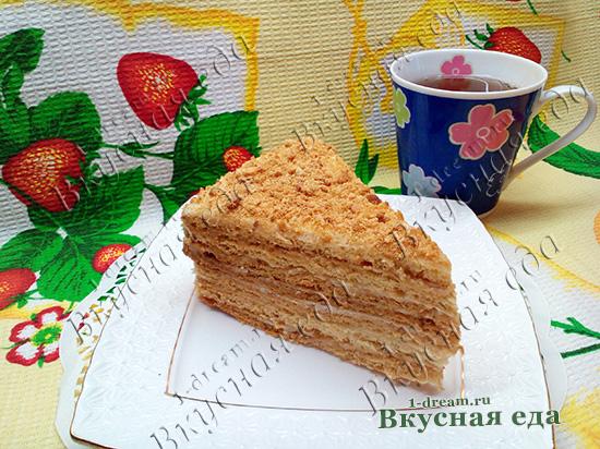 Рецепт медовика со сметанным кремом с пошаговыми фото