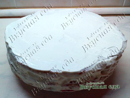 Медовик со сметанным кремом готов