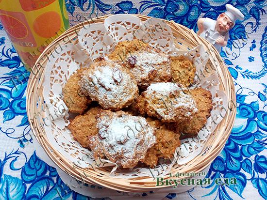 Овсяное печенье без масла и сахара.