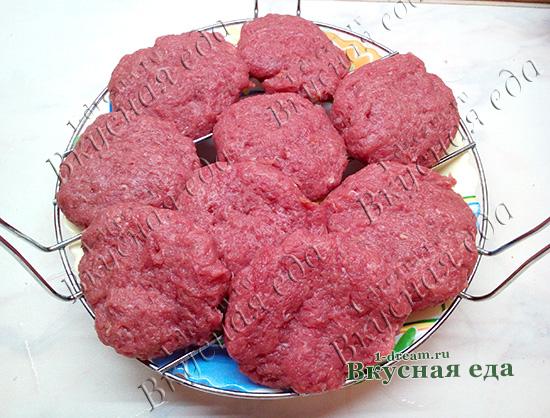 Паровые котлеты из мяса на решетку
