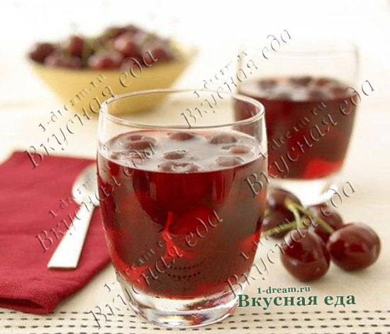 Рецепт компота из вишни в кастрюле