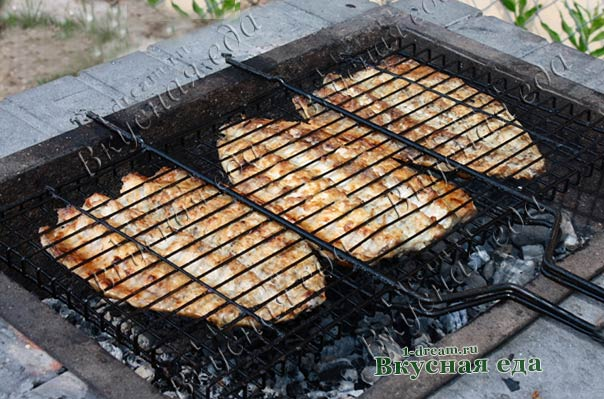 Рецепт скумбрии- рыбы на мангале