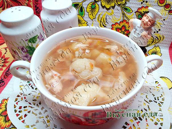 Суп с цветной капустой куриный