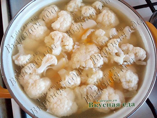 Добавить в суп цветную капусту