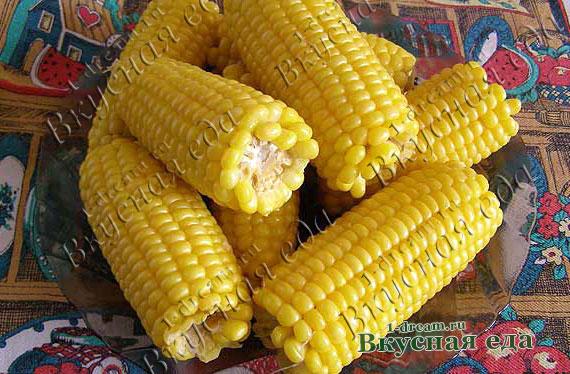 Рецепт вареной кукурузы