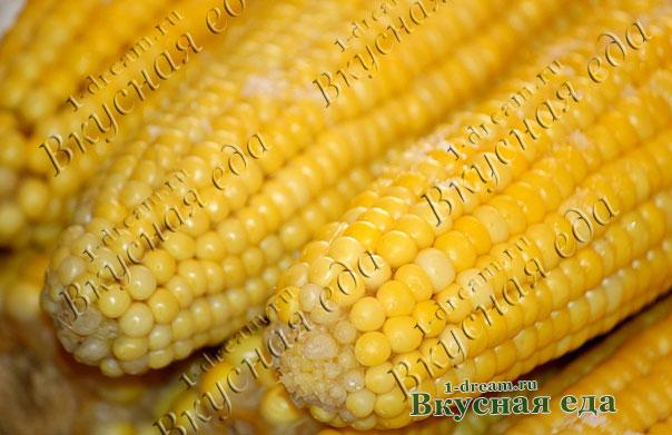 Вареная кукуруза готова